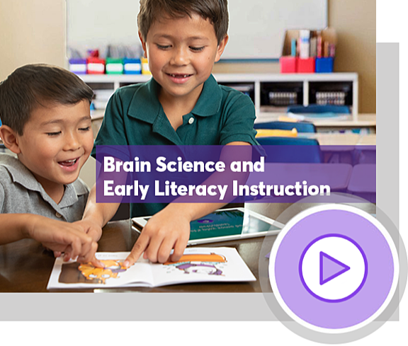 Two students reading with SquareTales. Brain Science and Early Literacy Instruction